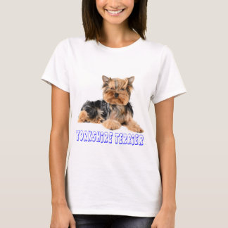 Kvinna för hund för valp för Yorkshire Terrier T-shirts