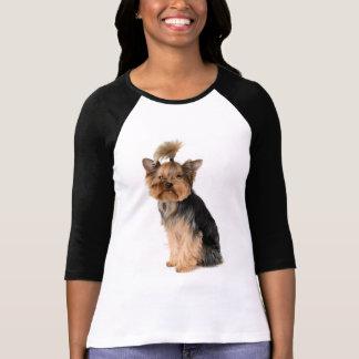 Kvinna för hund för valp för Yorkshire Terrier Tshirts