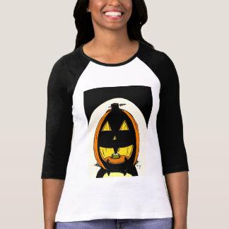 Kvinna för jackolykta T-tröja för Raglan Tee Shirts
