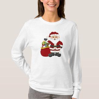 Kvinna för julSanta helgdag t-skjorta T Shirts