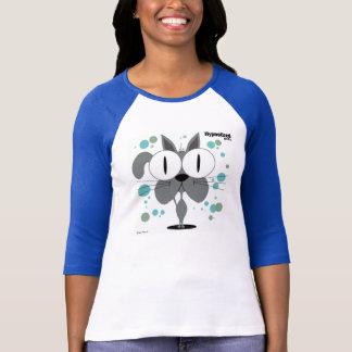 Kvinna för katt (grå färg) T-tröja Tshirts
