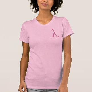 Kvinna för Lambda (liten logotyp) t-skjorta Tee Shirts