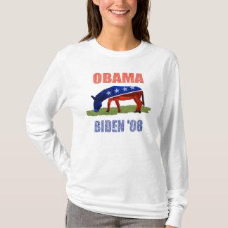 Kvinna för logotyp för Obama Biden åsnademokrat Tee Shirts