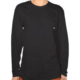 Kvinna för LS för jul för stativbaksida… kristna T-shirts