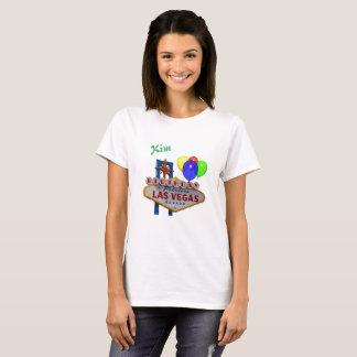 Kvinna för personligLas Vegas födelsedag T-tröja Tshirts