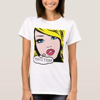 """Kvinna för popkonst""""PERFEKTION"""" grundläggande T-shirt"""