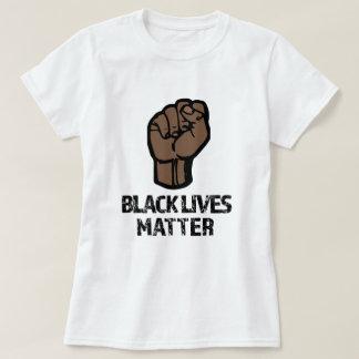 Kvinna för svartlivmateria skjorta t-shirt