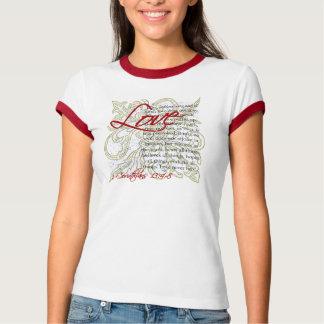 Kvinna för T-tröja för kärlekbibelVerse kristna T-shirt