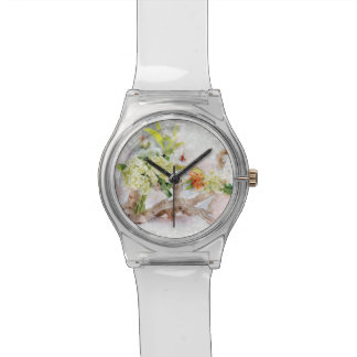 Hydrangeas Bella Watercolor Women's Watch