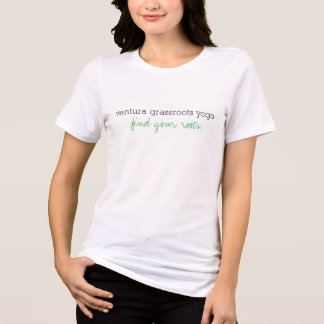 Kvinna för Ventura gräsrotYoga T-tröja T Shirts