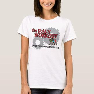 Kvinna formatmed. Daly-genomköraret-skjorta T Shirts