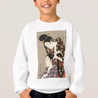 Kvinna friseringUtamaro Yuyudo Ukiyo-e konst T Shirts