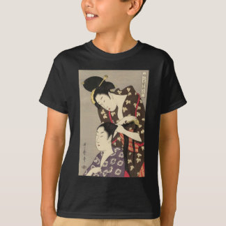 Kvinna friseringUtamaro Yuyudo Ukiyo-e konst T-shirts