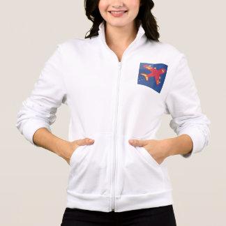 Kvinna gåvor för joggare för vinande för tryck på jackor