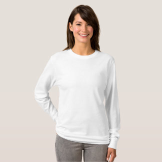 Kvinna grundläggande långärmadT-tröja Tee Shirt