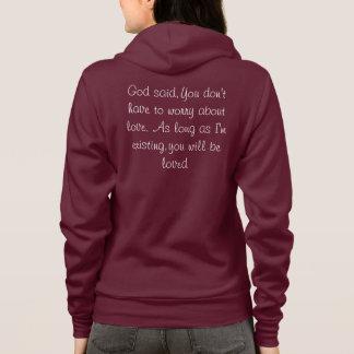 Kvinna gud sade; Hoodie för vinande för