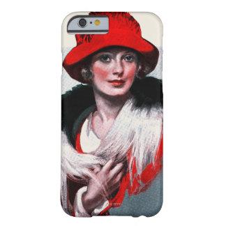 Kvinna i röd hatt barely there iPhone 6 fodral