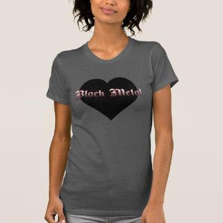 Kvinna jag älskar den svart metallskjortan t-shirts