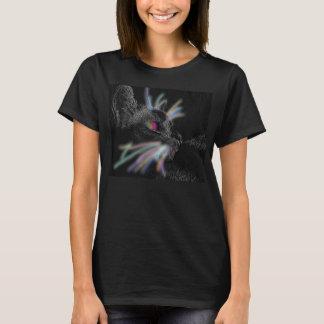 Kvinna katt med den glödande WhiskersT-tröja Tee