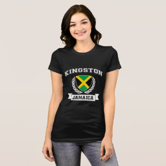Kvinna Kingston, Jamaica utslagsplats Tee Shirts