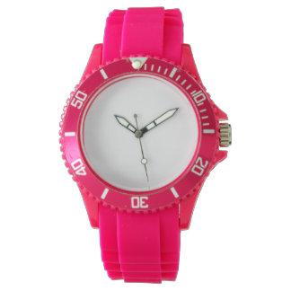 Kvinna klocka för silikoner för sport rosa