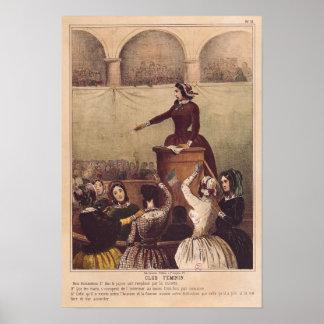 Kvinna klubb, c.1848 poster