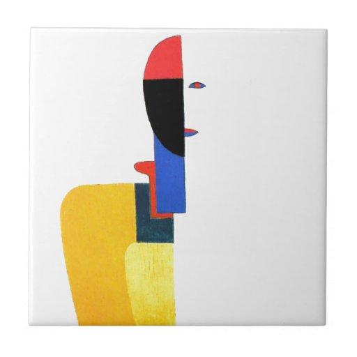 Kvinna konst för Torsoabstrakt Kakelplatta Av Kerami