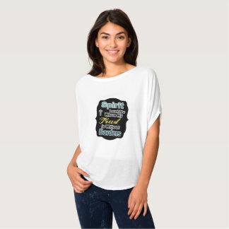 Kvinna kristna skjorta tee