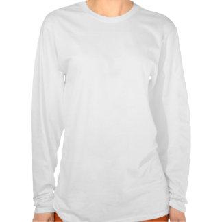 Kvinna långärmadutslagsplats t-shirts