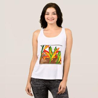 Kvinna liljatanktop t-shirts