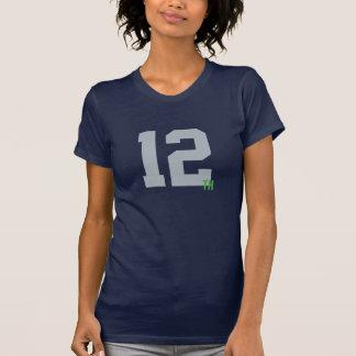 Kvinna man Jersey för marin- & grönt12:e T Shirt