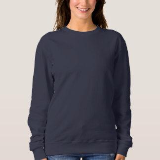 Kvinna MARINBLÅ DIY mall för grundläggande tröja