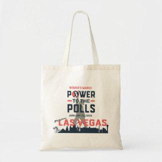 Kvinna mars Las Vegas - totot hänger lös Tygkasse