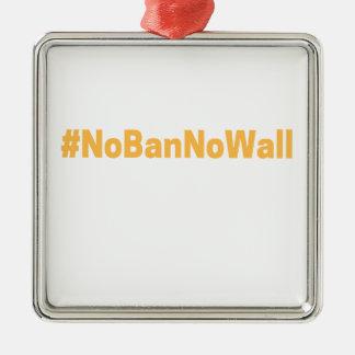 Kvinna mars#NoBanNoWall Julgransprydnad Metall