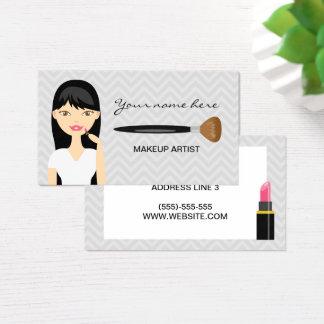 Kvinna med den svart långa hårMakeupkonstnären Visitkort