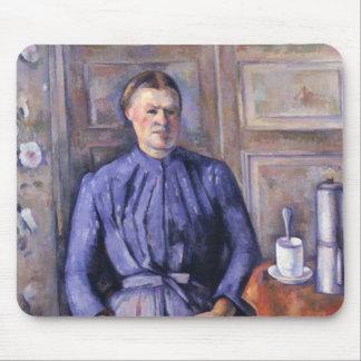 Kvinna med en kaffekruka, c.1890-95 musmatta