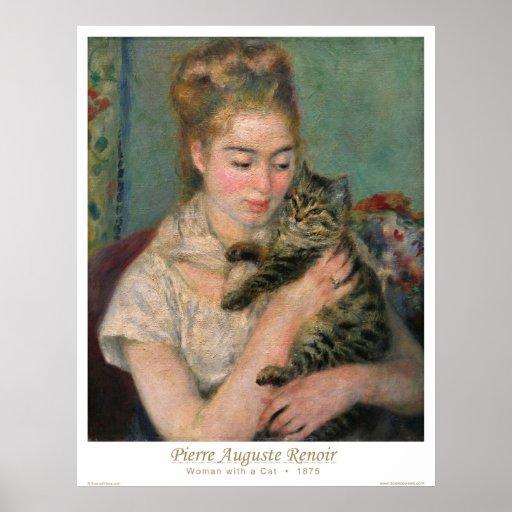 Kvinna med en katt print