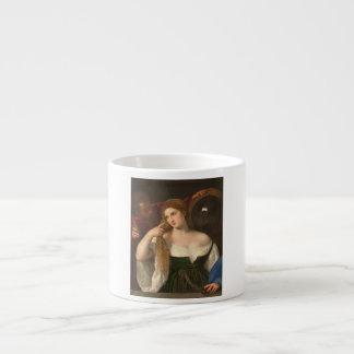 Kvinna med en spegel vid Titian Espressomugg