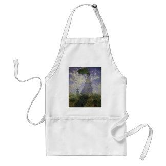 Kvinna med ett slags solskydd vid Claude Monet, Förkläde
