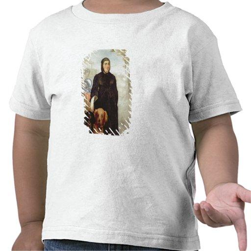 Kvinna med hundar, 1858 (olja på kanfas) tee shirt