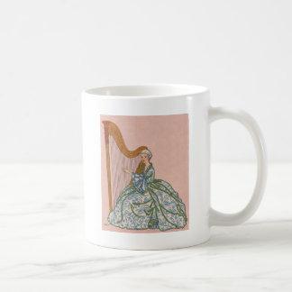 Kvinna på harpa kaffemugg