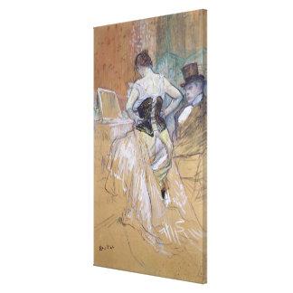 """Kvinna på henne toalett, studie för """"Elles"""", c.189 Canvastryck"""