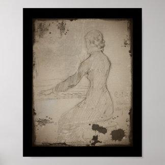 Kvinna på pianot (det fördämningVid pianot) Posters