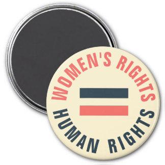 Kvinna rättigheter likställer feministiska magnet rund 7.6 cm