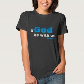 Kvinna Romans8:31 kopplar ihop skjortan Tröja
