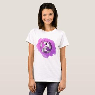 Kvinna rosa yin för lilastänk och yang volleyboll tröja