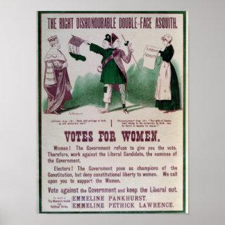 Kvinna rösträttaffisch poster