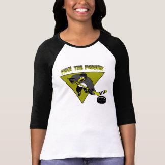 Kvinna skräck pingvinT-tröja Tee Shirt