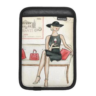 Kvinna som dricker rött vin sleeve för iPad mini