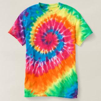 Kvinna spiral Tie-Färg T-tröja Tee Shirt